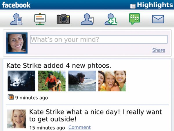 download facebook for blackberry