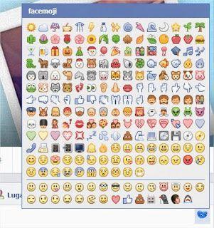 iconos y emojis para facebook messenger