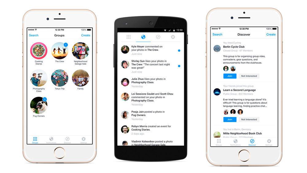 grupos de facebook en android